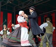 National Lithuanian folkloric dance Royalty Free Stock Photos