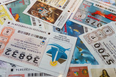 National lottery receipts Royalty Free Stock Photography