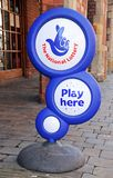 National Lottery Sign, Lichfield, England. Royalty Free Stock Photo