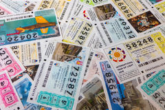 National lottery tickets Stock Images