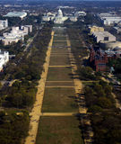 National Mall. Color aerial photo of the National Mall Royalty Free Stock Photography