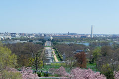 National Mall from Arlington Cemetery Stock Photography