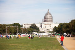 National Mall and Capitol Building Restoration. Stock Photos