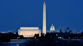 National Mall in Washington DC. At night Stock Photo