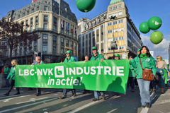 National manifestation in Brussels Stock Photo