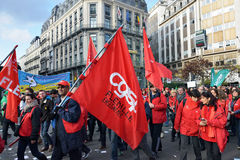 National manifestation in Brussels Royalty Free Stock Photography