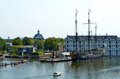 National Maritime Museum in Amsterdam stock images
