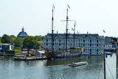 National Maritime Museum in Amsterdam stock photography