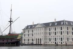 National Maritime Museum Amsterdam Scheepvaart Museum Stock Photography