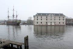 National Maritime Museum Amsterdam Scheepvaart Museum Royalty Free Stock Photos