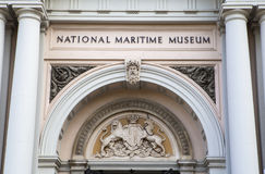 National Maritime Museum in London. The impressive facade of the National Maritime Museum in Greenwich, London Stock Photo