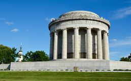National Memorial. This is a Summer picture of the George Rogers Clark Memorial located in Vincennes, Illinois. The memorial built in 1931 was dedicated by stock photos