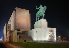 National Memorial Vitkov - Prague. Jan Zizka - the largest equestrian statue in the world (9m high Royalty Free Stock Photos