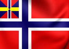 National and Merchant Flag of Norway 1844-1899 Stock Photos