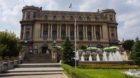 The National Military Circle Palace in Bucharest. Is the headquarter of the Romanian Army and was inaugurated in February 4, 1923 stock photo