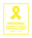 National minority cancer awareness ribbon. A National minority cancer awareness ribbon Royalty Free Stock Images