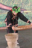 National minority dancing event in Moon Lake, Taiwan Stock Photography