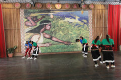 National minority dancing event in Moon Lake, Taiwan Royalty Free Stock Photography