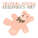 National Missing Children's Day Royalty Free Stock Photos