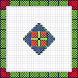 National moldavian cross sketch ornament Stock Photo