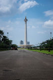 National momument, Jakarta. Indonesian independence monument - tower with a gold flame Royalty Free Stock Photos