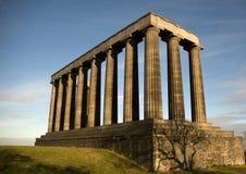 National monument. On Calton Hill in Edinburgh, Scotland Stock Image