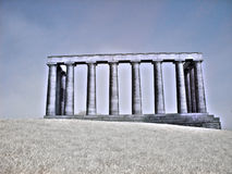 National monument on Calton hill Royalty Free Stock Image