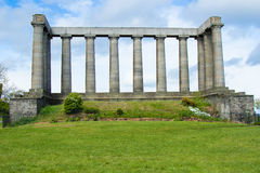 National Monument in Calton Hill Stock Image