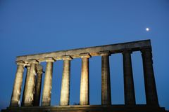 National Monument, Calton Hill, Edinburgh, UK stock photos