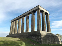 National Monument on Calton Hill. This photo is shot in Scotland Royalty Free Stock Image