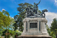 National Monument of Costa Rica in National Park of San Jose. Stock Images