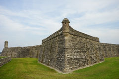 National Monument Florida: Fort Castillo de San Marcos. In St. Augustine, Florida - A Popular Tourist Attraction: a furnace royalty free stock photos