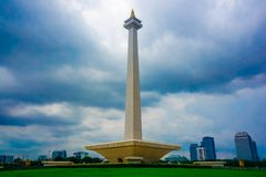 The national monument of independence is Monas. Jakarta, Indonesia. South East Asia royalty free stock photo