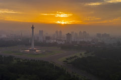 National Monument of Indonesia in Jakarta Royalty Free Stock Photo