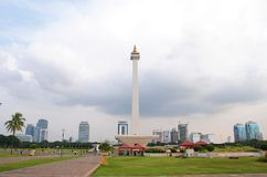 The National Monument of Jakarta royalty free stock photos