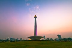 National Monument in Jakarta Stock Photo
