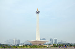 National Monument (Monas). The National Monument (Monas) is a 433 ft tower in the center of Merdeka Square, Central Jakarta, Indonesia royalty free stock images