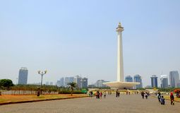 National Monument (Monas) at daylight. This is one of iconic monument in Jakarta, Indonesia royalty free stock images