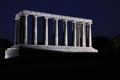 National Monument at night Royalty Free Stock Images