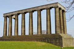 National Monument in Scotland Royalty Free Stock Image