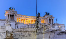 National Monument to Victor Emmanuel II, Altar of the Fatherland, Altare della Patria, in Rome, Italy Royalty Free Stock Photo