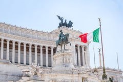 National Monument to Victor Emmanuel II, Piazza Venezia in Rome, Royalty Free Stock Photo