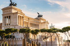 National Monument to Victor Emmanuel II in Rome Stock Photos