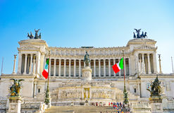National Monument to Victor Emmanuel II in Rome. Stock Photos