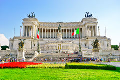 National Monument to Victor Emmanuel II in Rome. Royalty Free Stock Photo