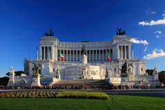 National monument to Victor Emmanuel II Rome, Italy Stock Photo