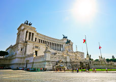 National Monument to Victor Emmanuel II in Rome Royalty Free Stock Photos