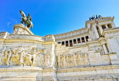 National Monument to Victor Emmanuel II in Rome. Stock Photography