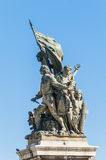 National Monument to Victor Emmanuel in Rome, Italy. Royalty Free Stock Image