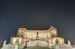 National Monument to Victor Emmanuel in Rome, Italy. Stock Image